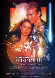 Póster de la película La guerra de las galaxias. Episodio II: El ataque de los clones