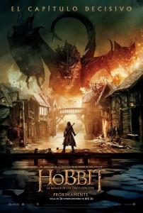 Póster de la película El Hobbit: La batalla de los cinco ejércitos