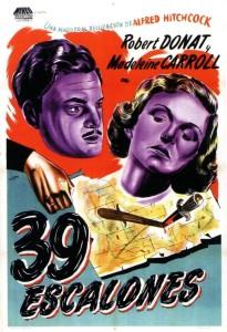 Póster de la película 39 escalones