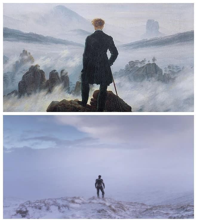 Wanderer Above The Sea Of Fog (1818) de Casper David Friedrich en Under The Skin