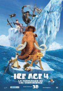 Póster de la película Ice Age 4: La formación de los continentes
