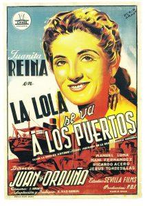 Póster de la película La Lola se va a los puertos (1947)