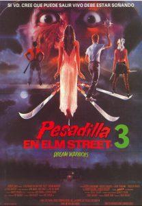Póster de la película Pesadilla en Elm Street 3: Los guerreros del sueño