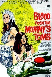 Póster de la película La sangre en la tumba de la momia