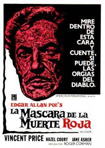 Póster de la película La máscara de la muerte roja